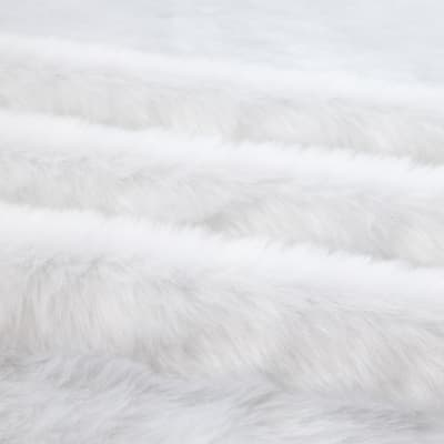 Shannon Luxury Faux Fur Grizzly Faux Fur White