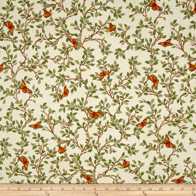 QT Fabrics Serenity Prayer Butterfly Vine Cream