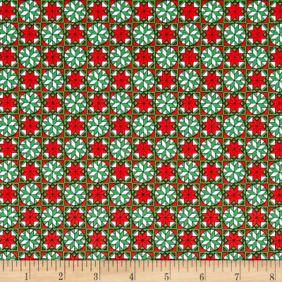 Home For The Holiday Snowflake Tiles Red/Green