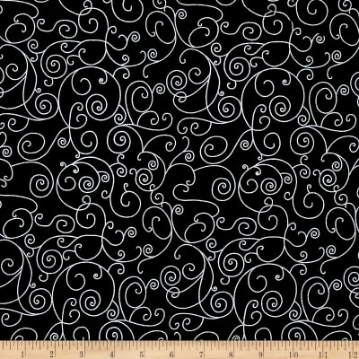 Westrade 110 In. Wide Quilt Back Willow Black/White