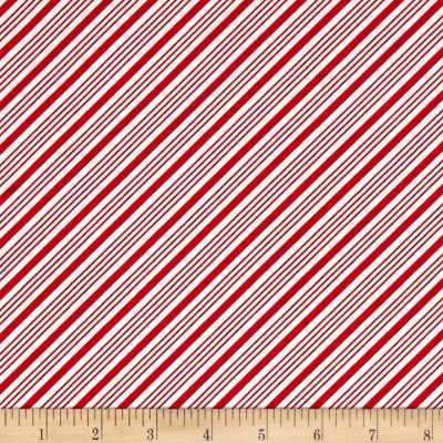Frosty the Snowman Everyone's Fav Snowman Diagonal Stripe Red