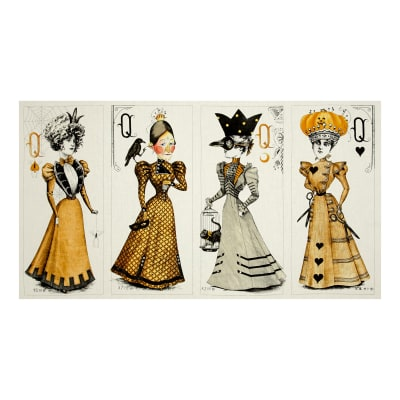 "Queen Of We'en Queen Dolls 23.5"" Panel Multi"