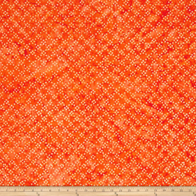 Timeless Treasures Tonga Batik Happy Hour Dot Party Tangerine