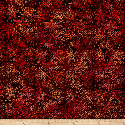 Timeless Treasures Tonga Batik Forest Floor Bush Wine