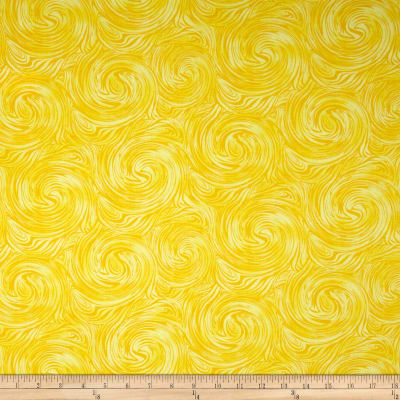 Timeless Treasures Skinny Barns Swirl Texture Yellow
