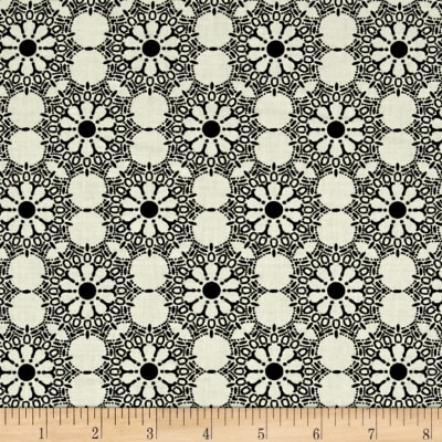 Black And White Expressions Stencil Medallion Ivory
