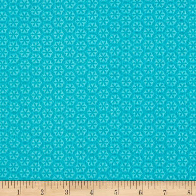 Kanvas Knitty Kitty Flannel Knit Flower Aqua