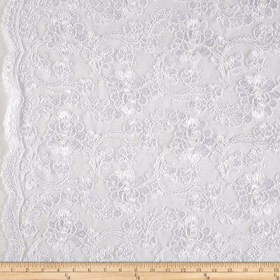 Starlight Mesh Lace Rosedale White