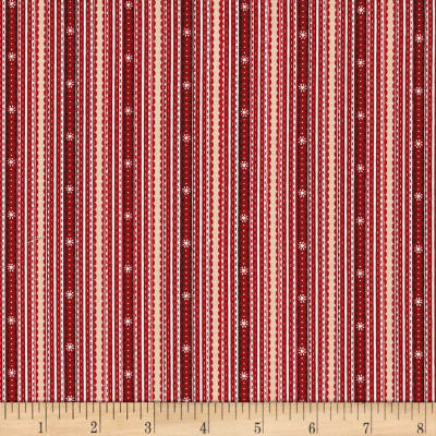 Glad Tidings Ticking Stripe Red