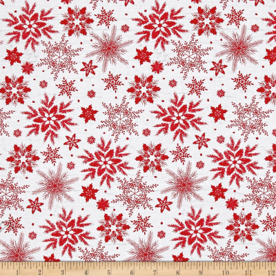 Holiday Homecoming Snowflake White/Red