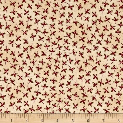Kim Diehl Winter Cheer Flannel Stylized Vine Cream/Multi