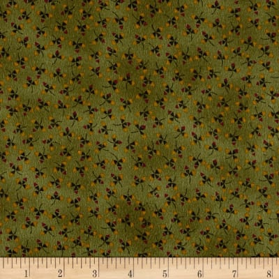 Kim Diehl Winter Cheer Flannel Stylized Vine Green