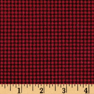 Kim Diehl Winter Cheer Flannel Small Check Red