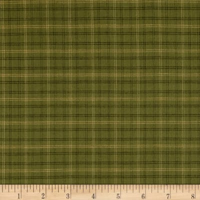 Autumn Song Yarn Dye Window Pane Plaid Green