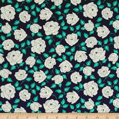 Sweet Florals Dotted Rose Navy