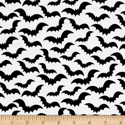 Eat, Drink & Be Scary Bats White