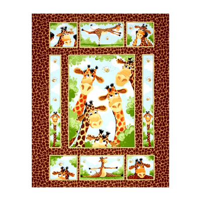 "Susybee Zoe the Giraffe 35.5"" Panel Brown"