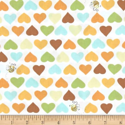 Susybee Zoe the Giraffe Hearts and Bees White-Multi
