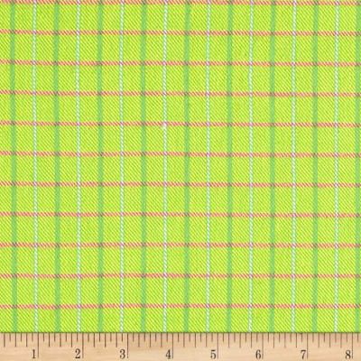 Marcus Primo Plaids Color Crush Flannel Small Plaid Lime