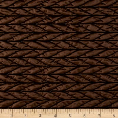 International Designer Puffy Quilted Herringbone Brown