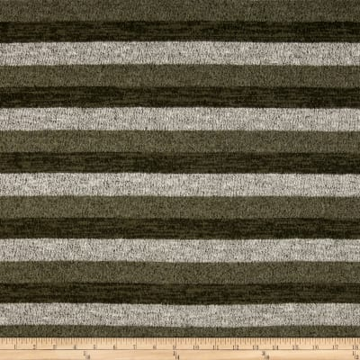 Brushed Hatchi Knit Stripe Olive/Grey