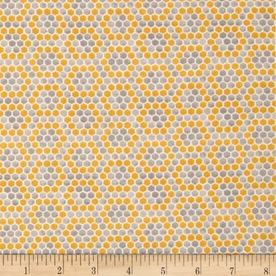 Moda Bee Inspired Honey Comb Harvest Grey-Honey