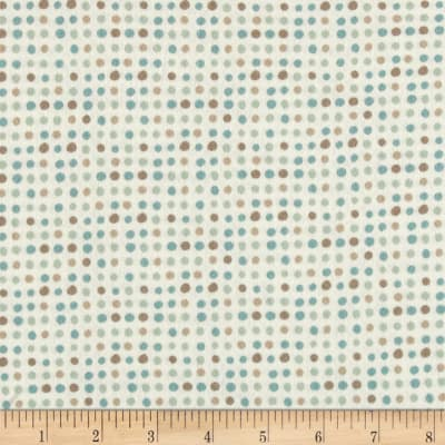 Moda Corner of 5th & Fun Dots Flannel Ivory Blue
