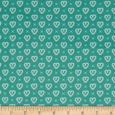 Moda Sugar Pie Cross My Heart Teal
