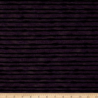 Designer Sweater Knit Mini Black Stripe on Purple