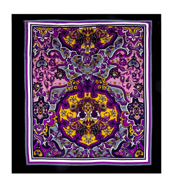 "Rihan Jersey Knit 33"" Panel Bohemian Garden Purple"