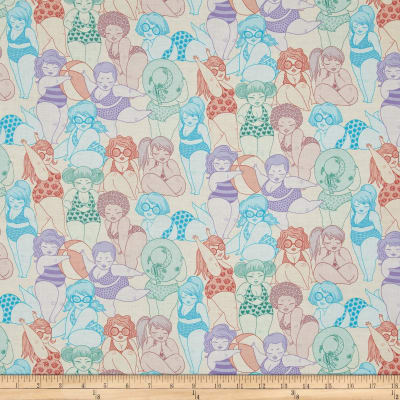 Alexander Henry Boardwalk Bathing Beauties Pastel Peach