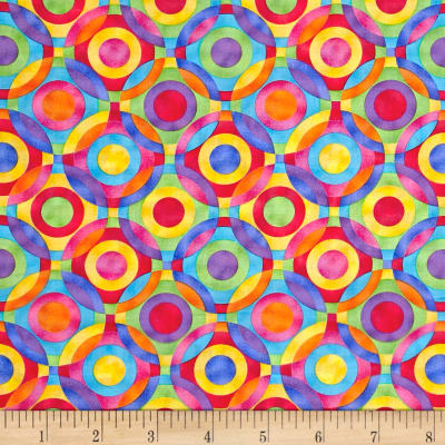 Rainbow Bright Geometric Circles Multi