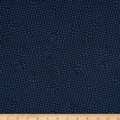 Moda True Blue Triangles Indigo