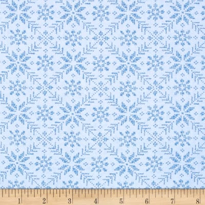 Moda Nordic Stitches Eight Leaf Rose Frost