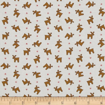 Moda Sugar Plum Christmas Reindeer Paws Icicle White