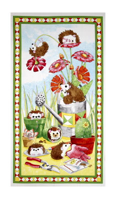"""Who Let The Hogs Out Hedgehog 24"""" Panel Multi"""