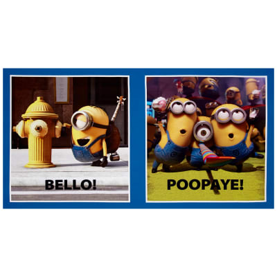 "Millions Of Minions Bello! Poopaye Patch Digital 23.5"" Panel Blue"