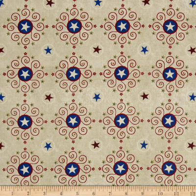 Stars & Stripes Forever Star Medallions Parchment