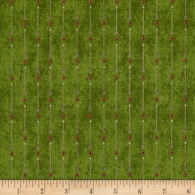 QT Fabrics Stars & Stripes Forever Arrow Stripe Olive