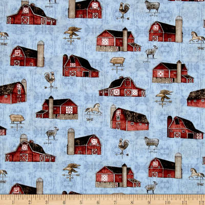 Bountiful Barns Light Blue