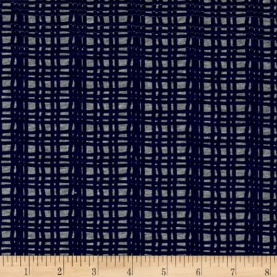 Children 39 s cotton t knits navy fence stripes on gray for Grey childrens fabric