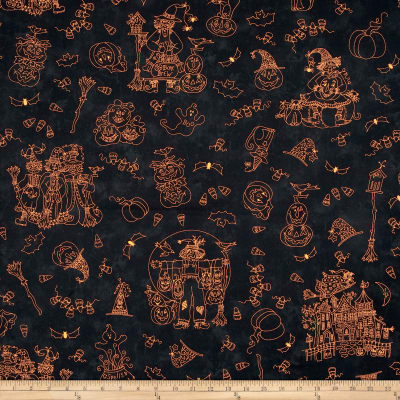 Maywood Studio Halloweenie  Halloweenie Toile Black
