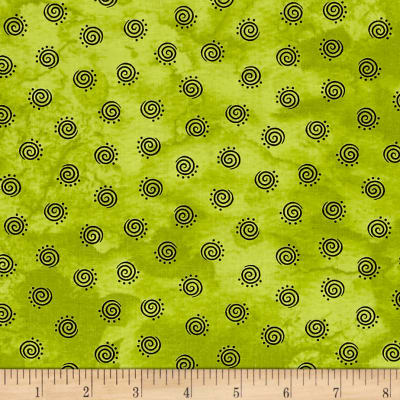 Maywood Studio Halloweenie Geo Swirls Green