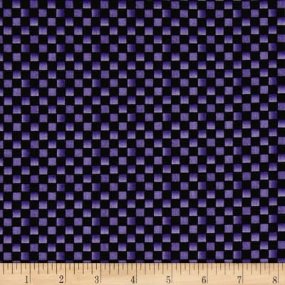 Maywood Studio Halloweenie  Simple Checkerboard Black/Purple