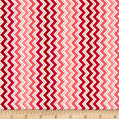 Maywood Studio Kimberbell Basics Zig Zag Red/Pink