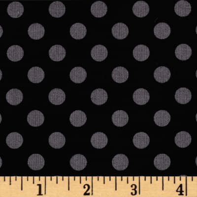 Maywood Studio Kimberbell Basics Dots Black/Gray