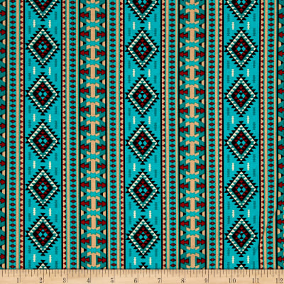 Mystical Natives Ethnic Columns Turquoise