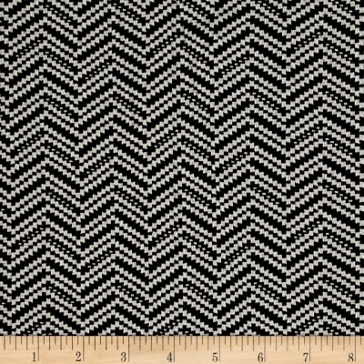 Double Knit Jacquard Herringbone Black/White