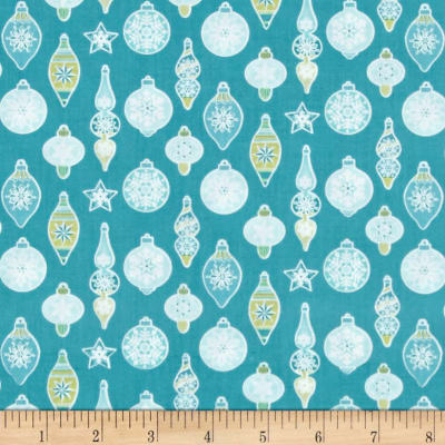 Contempo Nordic Holiday Ornaments Teal