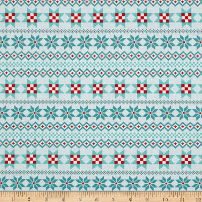 Contempo Nordic Holiday Nordic Stripe Teal